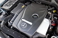 Mercedes-Benz C 250 AMG 2014 Engine Stock Image