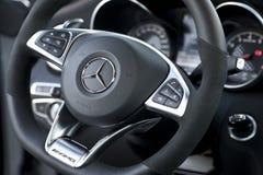 Mercedes-Benz C43 AMG - Innenraum stockfotos