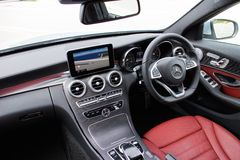 Mercedes-Benz C 250 AMG 2014 Interior Stock Photography