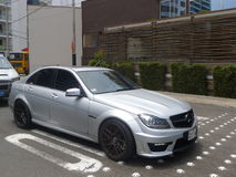 Mercedes-Benz C63 AMG in Miraflores, Lima fotografia stock libera da diritti