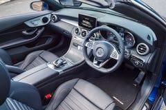 Mercedes-Benz C 200 Cabrioletinre Arkivbilder