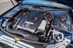 Mercedes-Benz C 200 Cabrioletmotor Royaltyfri Foto