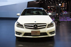 Mercedes-Benz C 180 Coupe car on display at Royalty Free Stock Photos