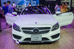 Mercedes-Benz C250e Coupe showed in Thailand the 37th Bangkok In. NONTABURI, THAILAND - 23 MAR : Mercedes-Benz C250e Coupe showed in Thailand the 37th Bangkok Royalty Free Stock Photo