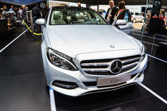 Mercedes-Benz C350e Plug-In Hybrid, Motor Show Geneve 2015. Royalty Free Stock Photos