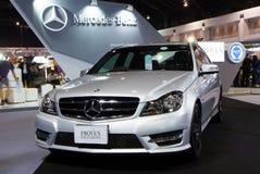 Mercedes Benz C-grupp CDI C250 på expo för Thailand Internationalmotor Royaltyfria Foton