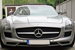 Mercedes-Benz C197 SLS AMG. Warsaw, Poland, September 2015, Motor car Mercedes-Benz C197 SLS AMG at the city street Stock Images