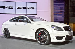 Mercedes Benz C63 AMG. On display at the 2011 New York Auto Show Royalty Free Stock Photo