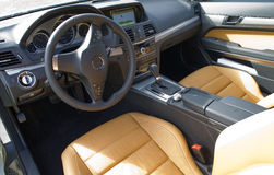 Mercedes benz cabriolet interieur Stock Images