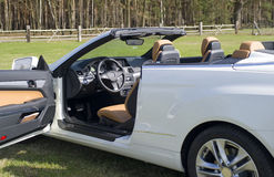 Mercedes benz cabriolet, sideview Royalty Free Stock Photo
