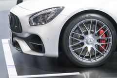 Mercedes Benz car on display at Motor Show. Bangkok-Thailand-3 December 2017: Mercedes Benz car on display at Motor Show Muangthong 2017 - The biggest motor show stock photo