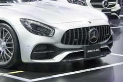 Mercedes Benz car on display at Motor Show. Bangkok-Thailand-3 December 2017: Mercedes Benz car on display at Motor Show Muangthong 2017 - The biggest motor show Royalty Free Stock Images