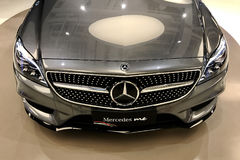 Mercedes Benz Car Head Light Arkivfoto
