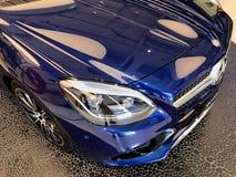 Mercedes Benz Car Head Light Stock Photography