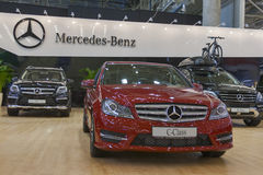 Mercedes-Benz car models on display Royalty Free Stock Image