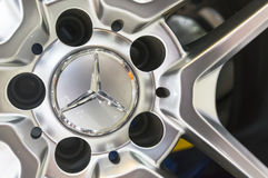 Mercedes-Benz car wheel alloy rim Royalty Free Stock Image