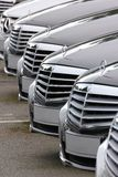 Mercedes Benz cars lined up Stock Images