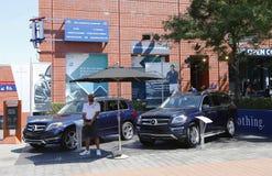 Mercedes- Benz cars at National Tennis Center during US Open 2013 Stock Photos