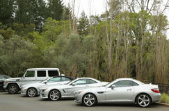 Mercedes-Benz cars presented as part of the Mercedes-Benz Drive Program in Meadowood Hotel in St. Helena Stock Photos