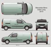 Mercedes-Benz Citan Long Cargo Van 2015 Royalty-vrije Stock Foto