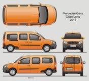 Mercedes-Benz Citan Long Combi Van 2015 Stock Afbeelding