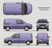 Mercedes-Benz Citan Medium Cargo Van 2015 Images stock