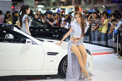 Mercedes-Benz CL with unidentified model. NONTHABURI-DEC 08: BRABUS 800 Coupe on Mercedes-Benz CL with unidentified model in the 29th Motor Expo on December 08 Stock Images