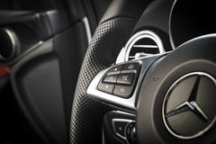 Mercedes-Benz CLA 45 2016 AMG interior stock photography