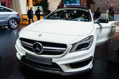 Mercedes-Benz CLA45 AMG, Motorshow Geneve 2015 Stock Fotografie
