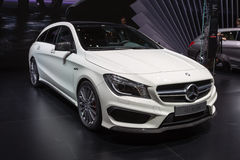 2015 Mercedes-Benz CLA45 AMG Shooting Brake. Geneva, Switzerland - March 4, 2015: 2015 Mercedes-Benz CLA45 AMG Shooting Brake presented on the 85th International Royalty Free Stock Photos