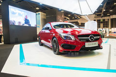 Mercedes-Benz CLA45 AMG at the Singapore Motorshow 2015 Royalty Free Stock Image
