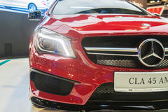 Mercedes-Benz CLA45 AMG at the Singapore Motorshow 2015 Royalty Free Stock Images