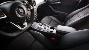 Mercedes-Benz CLA 45 2016 AMG wnętrze Fotografia Stock