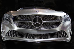 Mercedes Benz A-Class Concept Car. Front grille work of the Mercedes Benz A-Class concept car displayed at the 2011 New York Auto Show Stock Photos