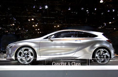 Mercedes Benz A-Class Concept Car. On display at the 2011 New York Auto Show Royalty Free Stock Photography