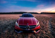 Mercedes Benz CLS AMG63 V8 Biturbo, modell 2017 fotografering för bildbyråer