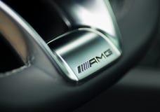 Mercedes Benz CLS AMG63 V8 Biturbo 2017, steering whhel Royalty Free Stock Image