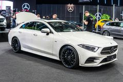 Mercedes Benz CLS 400 d 4Matic Coupe, Third generation, C257, 4-door sedan royalty free stock image