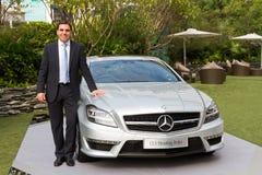 Mercedes-Benz CLS die Remmedia Gebeurtenis schieten Royalty-vrije Stock Afbeelding