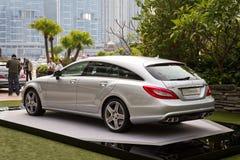 Mercedes-Benz CLS die Remmedia Gebeurtenis schieten Stock Foto's