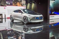 Mercedes-Benz Concept EQA - elbil på IAA 2017 Royaltyfri Bild