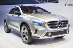 Mercedes-Benz Concept GLA car on display at The 30th Thailand International Motor Expo on December 3, 2013 in Bangkok, Thailand Royalty Free Stock Image