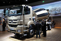 Mercedes Benz Concrete Mixer Truck Royalty Free Stock Image