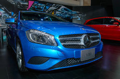 Mercedes Benz A180 on display Royalty Free Stock Photos