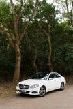 Mercedes-Benz E 220 BlueTec 2014 testa przejażdżka Obraz Stock