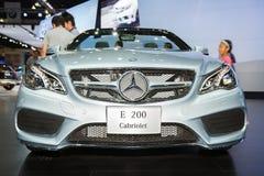 Mercedes-Benz E 200 Cabriolet car on display Stock Photo