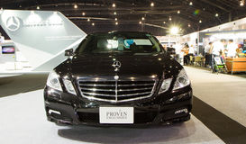 Mercedes-Benz E250 CDI op de Internationale Motor Expo van Thailand Stock Foto