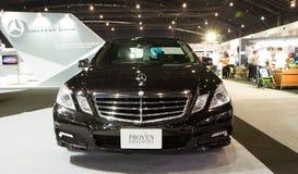 Mercedes-benz E250 CDI på expo för Thailand Internationalmotor Arkivfoto