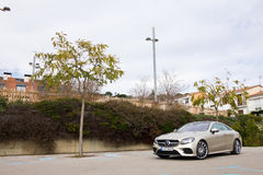 Mercedes-Benz E-Class Coupe 2017 Test Drive Day Royalty Free Stock Photography