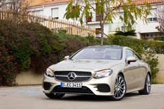 Mercedes-Benz E-Class Coupe 2017 Test Drive Day Stock Images